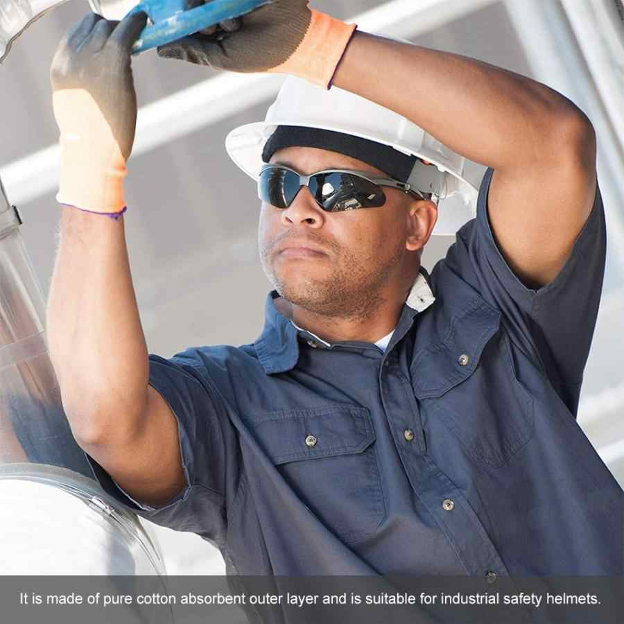 2pcs หมวกนิรภัยความปลอดภัย Worker หมวกกันน็อกหมวกผ้าฝ้าย Sweatband เหงื่อ-ดูดซับ Pad casco de seguridad