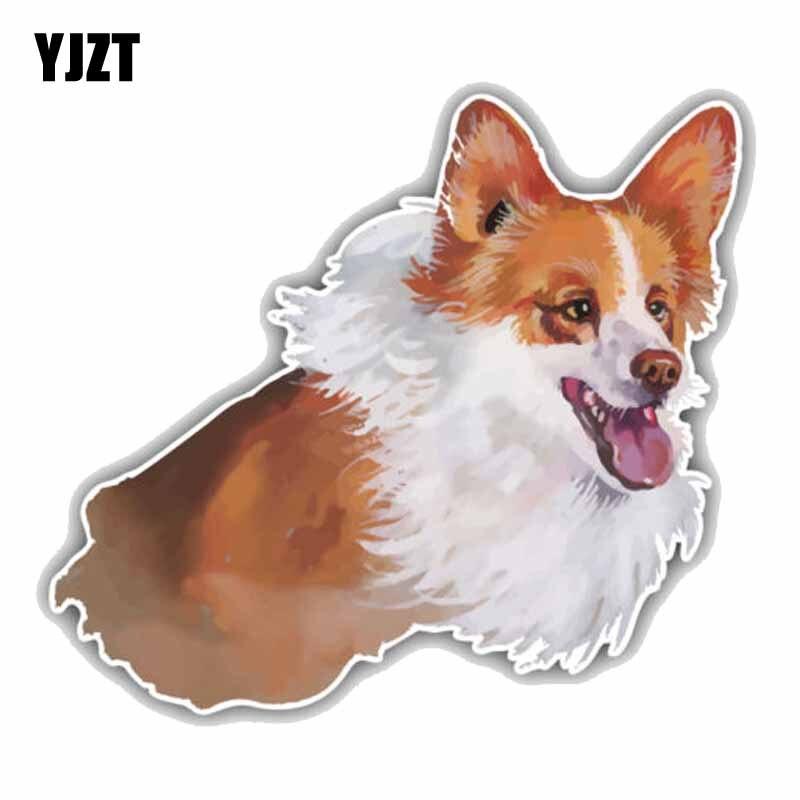 Car Stickers The Best Yjzt 15cmx13.4cm Funny Welsh Corgi Pembroke Dog Car Decoration Pvc High Quality Animal Car Sticker C1-9064 Price Remains Stable