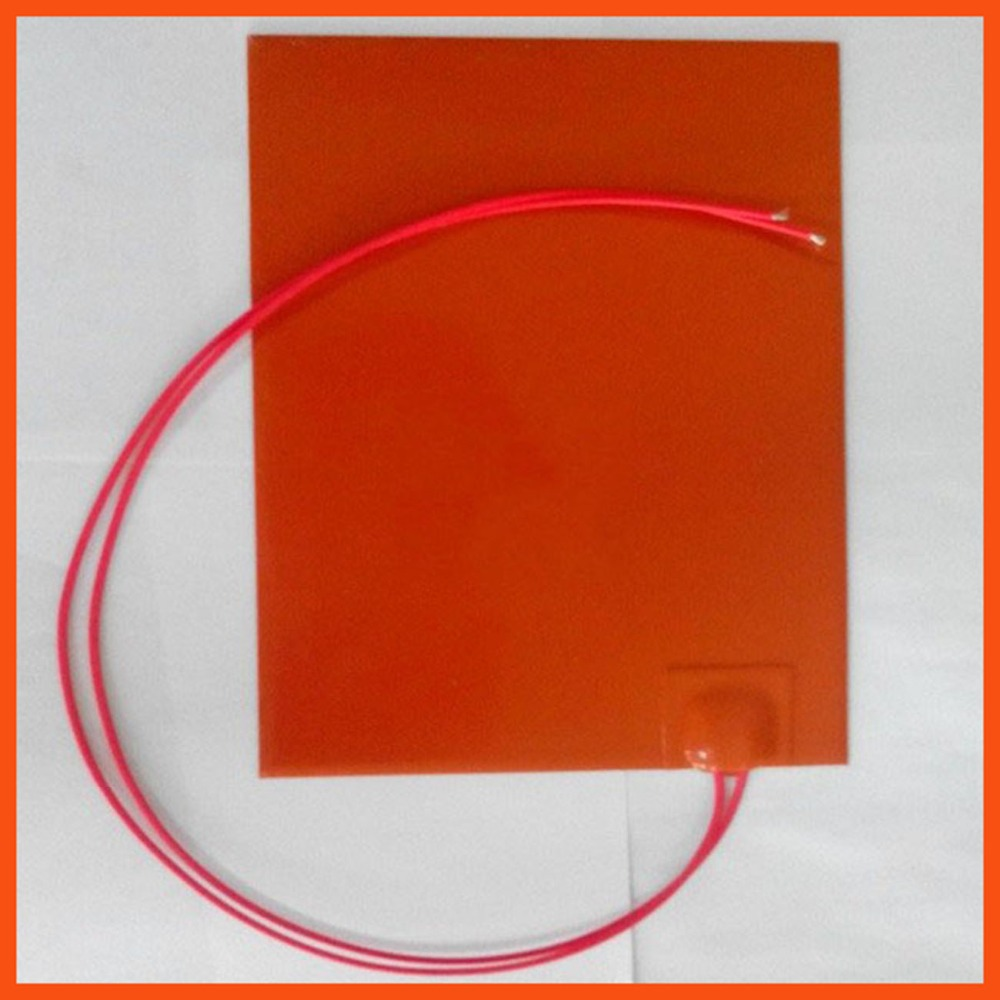 150x 150mm 110W 220V Wholesale Silicone Rubber Heater flexible Silicone Heater mat Heating Element 3D print heated bed stampante um 2 go 3d printer parts upgrade silicone rubber heater mat heated bed pt100 sensor for ultimaker 2 go build platform