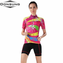 DONSUNG Colorful Cycling jersey women bike female maillot bicycle clothing outdoor sport clothes ropa ciclismo abbigliamento