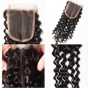 Image 3 - Karizma Deep Wave Bundles With Closure Non Remy Human Hair 3 Bundle Lace Closure Deals Peruvian Hair Weave Bundles With Closure