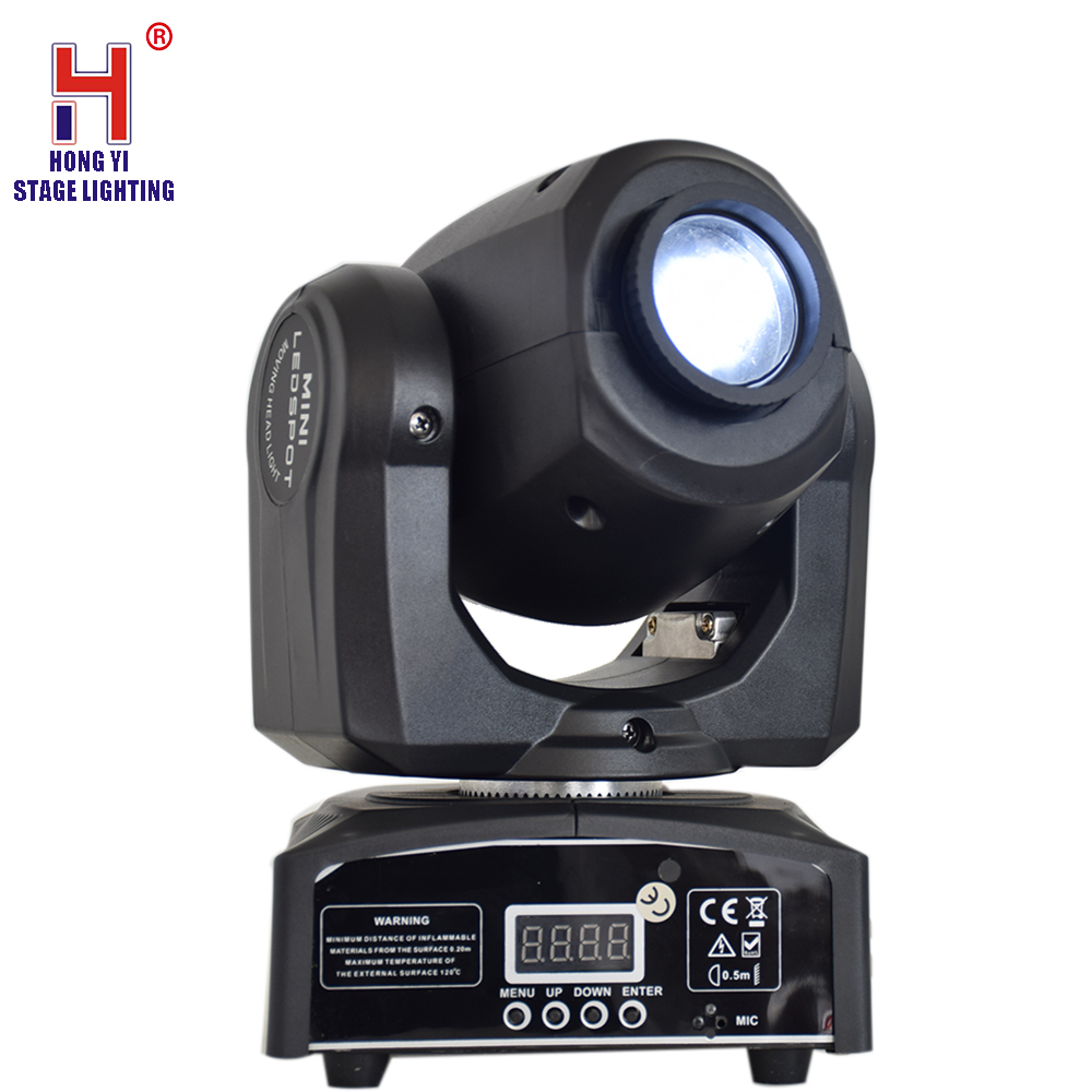Moving Head LED 10W Rainbow Effect With Gobos Plate&Color Plate DMX 512 Led Stage Lighting For Party Wedding Concert