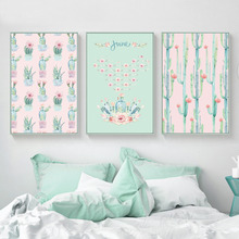 Cactus Pictures Plants Home Art Print, Botanic Canvas Wall Picture Print Poster For Decor HD2287