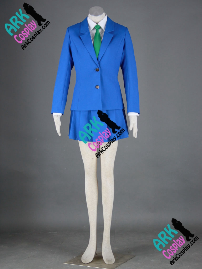 Detective Conan Mouri Ran Cosplay Blue Womens Japanese Shool Girl Uniform Detective Conan Cosplay Costume