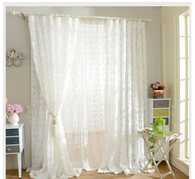 Floral 3D cortina tulle curtain for home