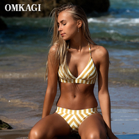 OMKAGI Micro Sexy Bikinis Women Swimsuit Swimwear Bikini Set Push Up Bathing Suit Biquini 2017 Maillot