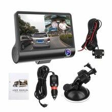 NEW 4 HD 1080P 3 Lens Car DVR Dash Cam Vehicle Video Recorder Rearview Camera