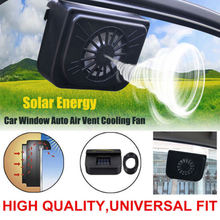 Solar Sun Power Car Auto Fan Air Vehicle Vent Cool Cooler Ventilation System Radiator Fit for Fits Car Window Black(China)