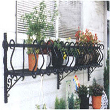 balcony flower baskets Red Gang Iron Balcony Flower Baskets Hanging Outdoor