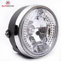 "High Quality 8"" Halo Motorcycle Headlight LED Turn Signal with H4 Bulb Motorbike Headlight Replacement for Harlley"