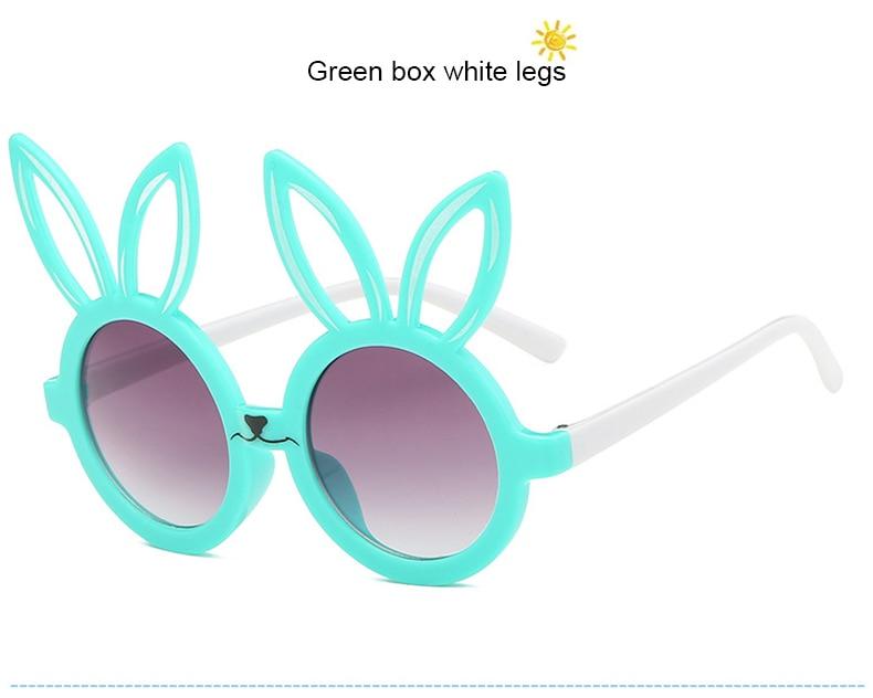 MINIMUM Cute rabbit shape Flexible Kids Sunglasses UV400 Eyewear Shades Infant Polarized Child Baby children Safety Sunglasses 8