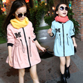 Children's fashion is suitable for the spring and autumn day wear jacket girl lovely canvas coat for 3 ~ 9 years old