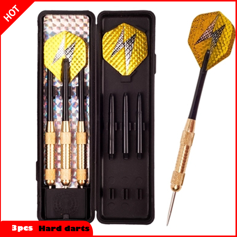 3pcs/ a professional 19 gram hard dart needle electronic safety game, dart box set * pure copper Darts