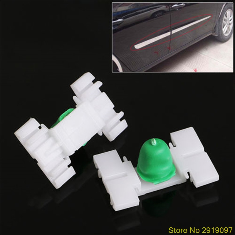 New Hot <font><b>20</b></font> <font><b>Pcs</b></font> Exterior Door Fender Moulding Trim Clip For <font><b>BMW</b></font> E36 E46 323 325 328 330ping Support image