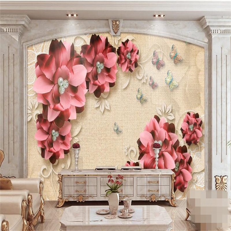 beibehang Custom photo wallpaper 3D fresco, retro jewelry flower living room TV wall papel de parede wall paper wallpaper Herbal Products f4843c1c797abf1a256c88: 1m2