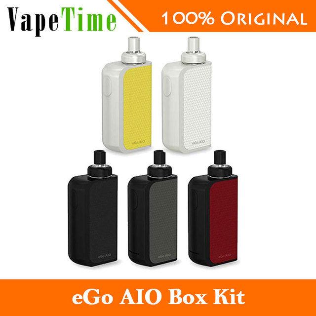 100% Оригинал Joyetech ЭГО AIO Box Vape Комплект 2 мл Электронные Сигареты распылитель BF SS316 Катушки и 2100 мАч Батареи Joyetech эго aio box