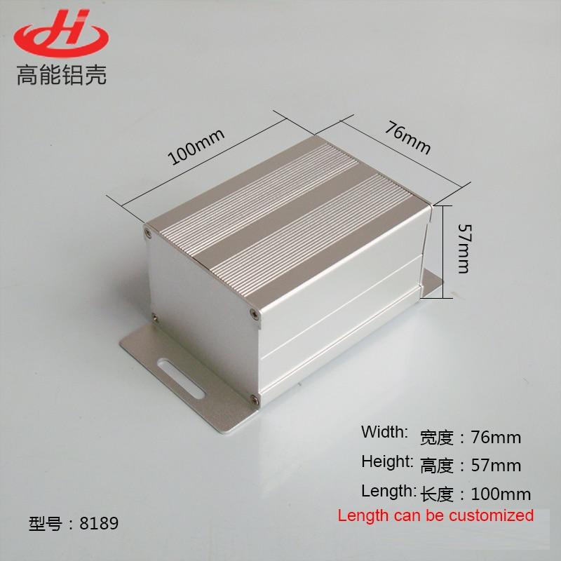 1 piece aluminum housing case for electronics project case 57(H)x76(W)x100(L) mm 8189 215 52 263 mm w h l aluminum extruded enclosures housing project box case