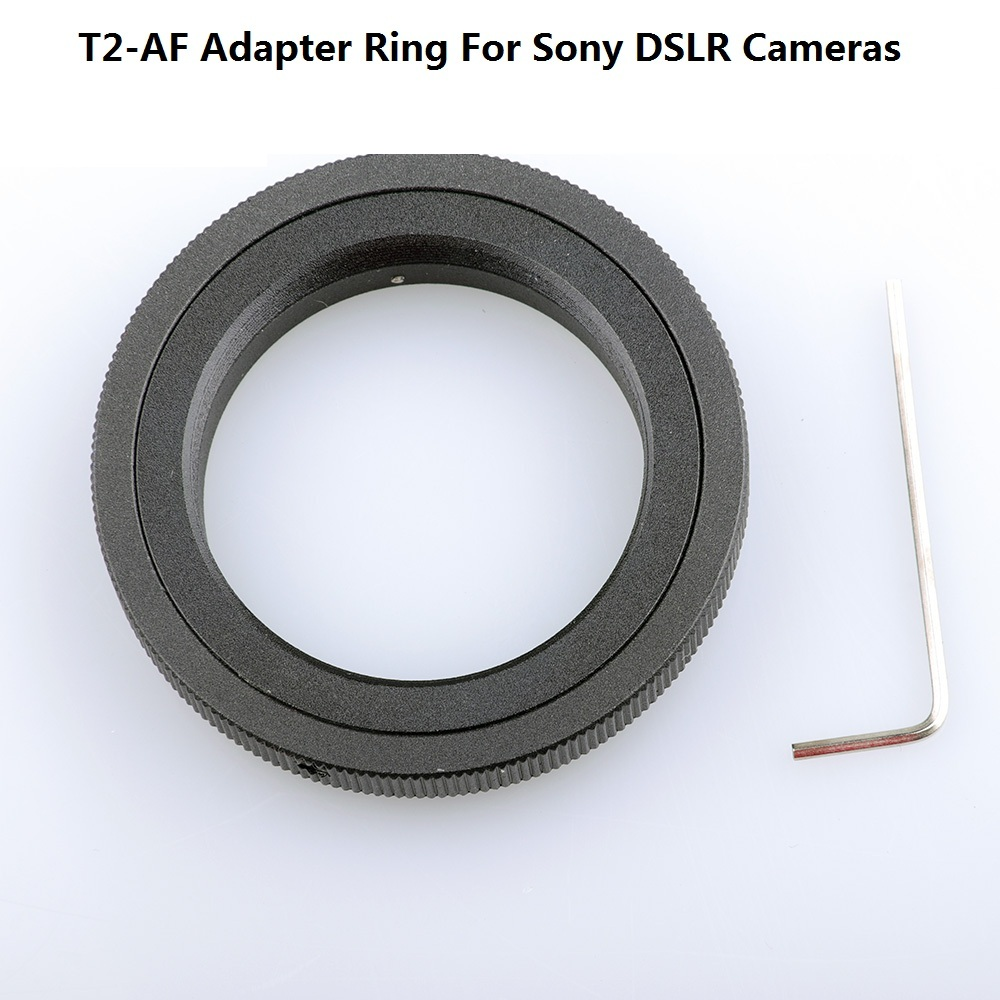 Black Aluminum T2-AF T Mount <font><b>Lens</b></font> DSLR Adapter Ring For <font><b>Sony</b></font> Cameras for A900 A700 A550 <font><b>A350</b></font> DSLR Cameras image