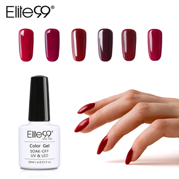 Elite99 Wein Rot Serie 12 Farben Pick 1 UV Gel Nagellack Nagel Gel Polnisch Gel LED UV Nail art maniküre 10ML Gelpolish