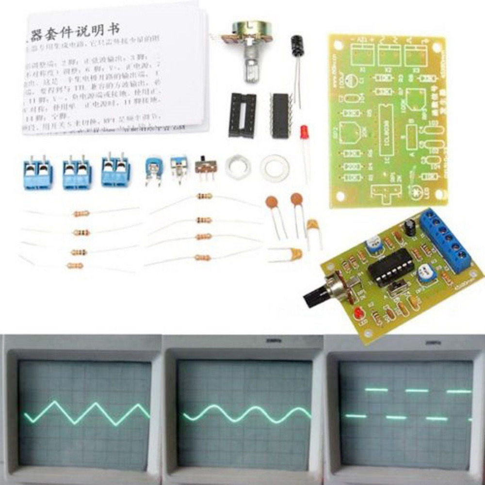 Icl8038 5hz400khz Function Signal Generator Diy Kit Sine Triangle Gto Sawtooth Wave Monolithic Module Square