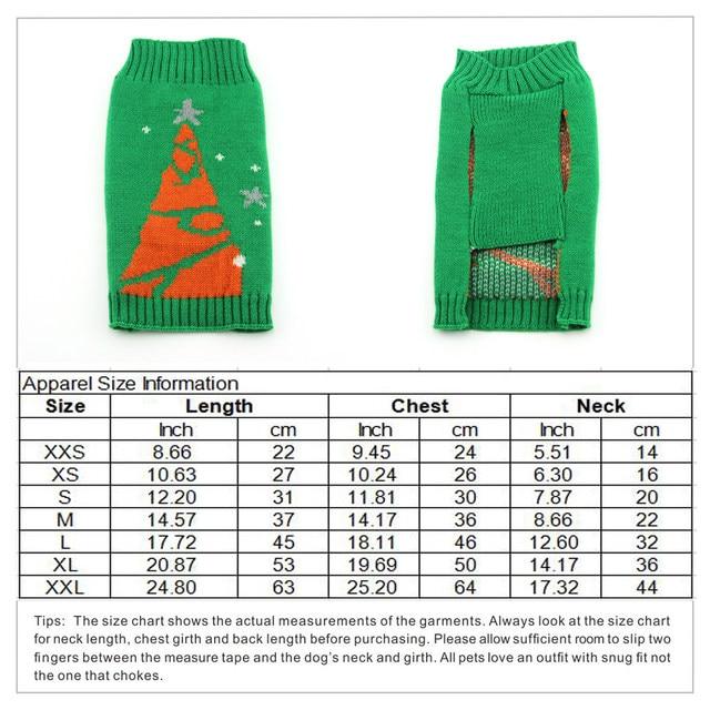 Tienda Online Navidad árbol perro suéter Navidad Perros invierno ...