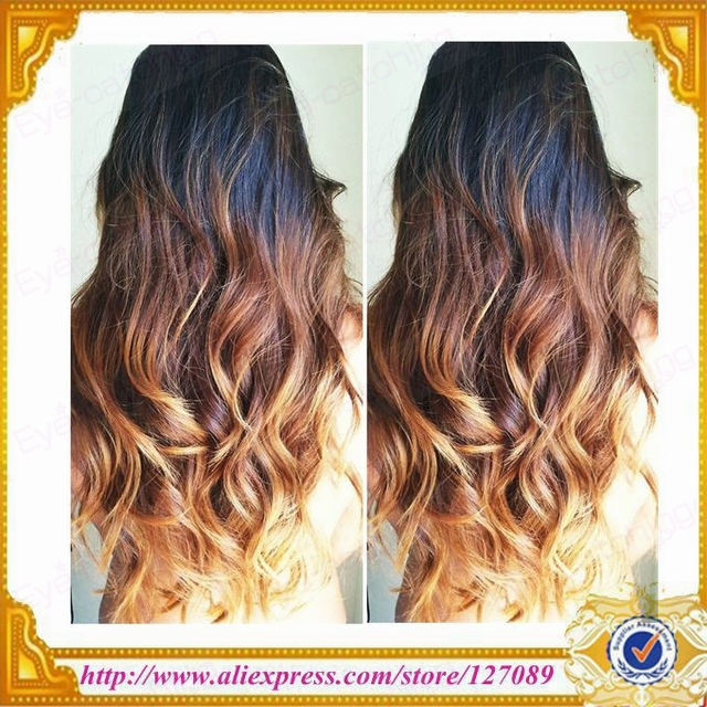 Free Shipping Hot Sell Wholesale Black Brown Light Brown Ombre Color
