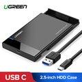 Ugreen HDD מקרה 2.5 SATA ל-usb 3.0 מתאם כונן קשיח מארז עבור SSD דיסק HDD תיבת סוג C 3.1 מקרה HD חיצוני HDD מארז