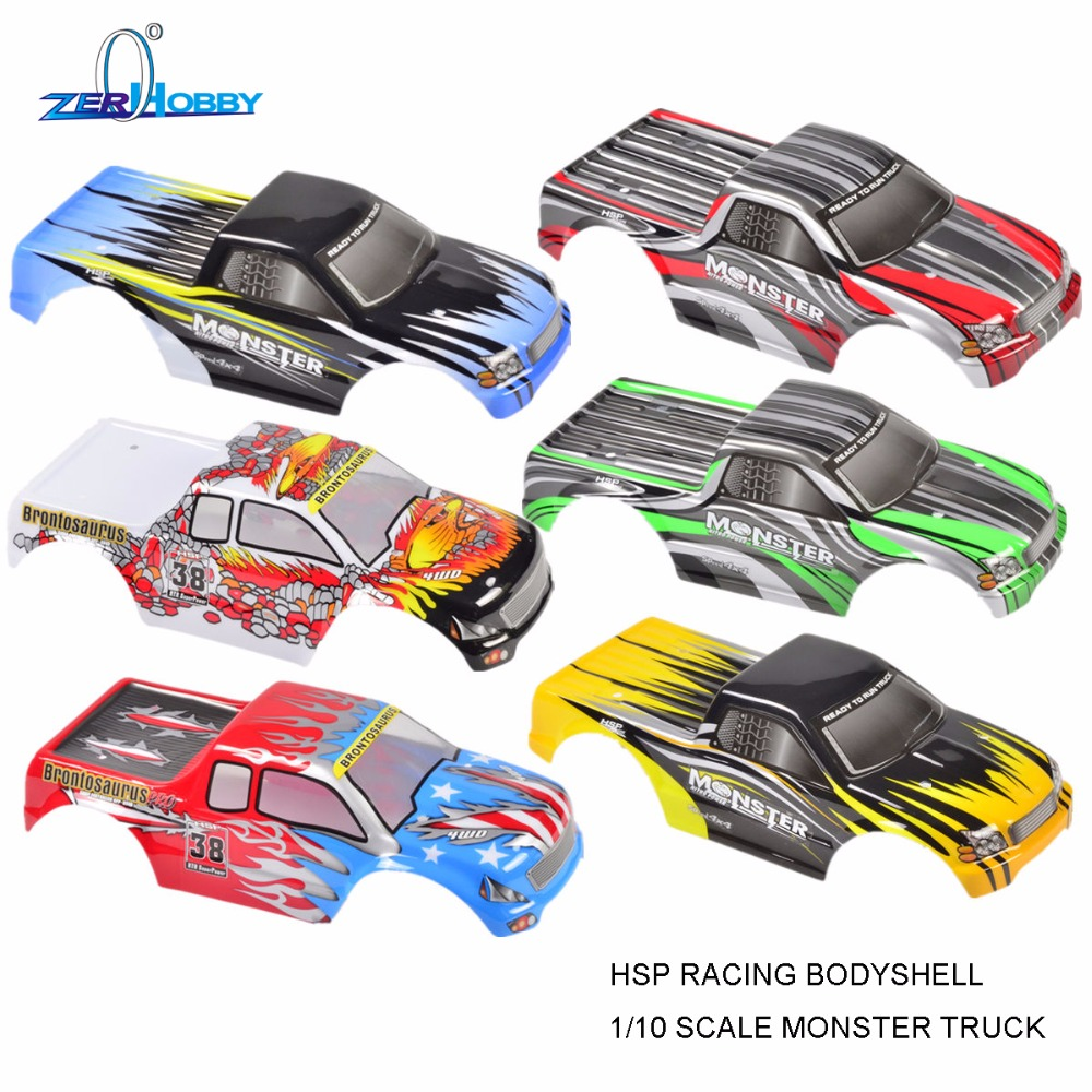 2PCS PER LOT RC CAR MONSTER TRUCK BODY SHELL FOR HSP 1/10 SCALE ELECTRIC MONSTER TRUCKS 94111 94111PRO 94111TOP
