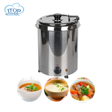 Water-bath Soup Warmer 5.7L 10L Stainless Steel Pot 110V 220V Commercial Bain Marie Cafeteria Buffet Canteen Restaurant цена и фото