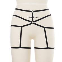 Women Sexy Garter Belt Elastic Cage Body Harness Hollow Leg Suspender Strap Underwear