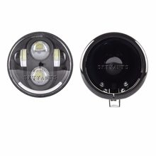 Faros LED para motocicleta de 5,75 pulgadas, faro delantero de 5,75
