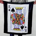 Bag to Poker Streamer (Spade K) - Magic Tricks,Stage,Accessories,Gimmick,Silk Scarf,Illusion,Comedy