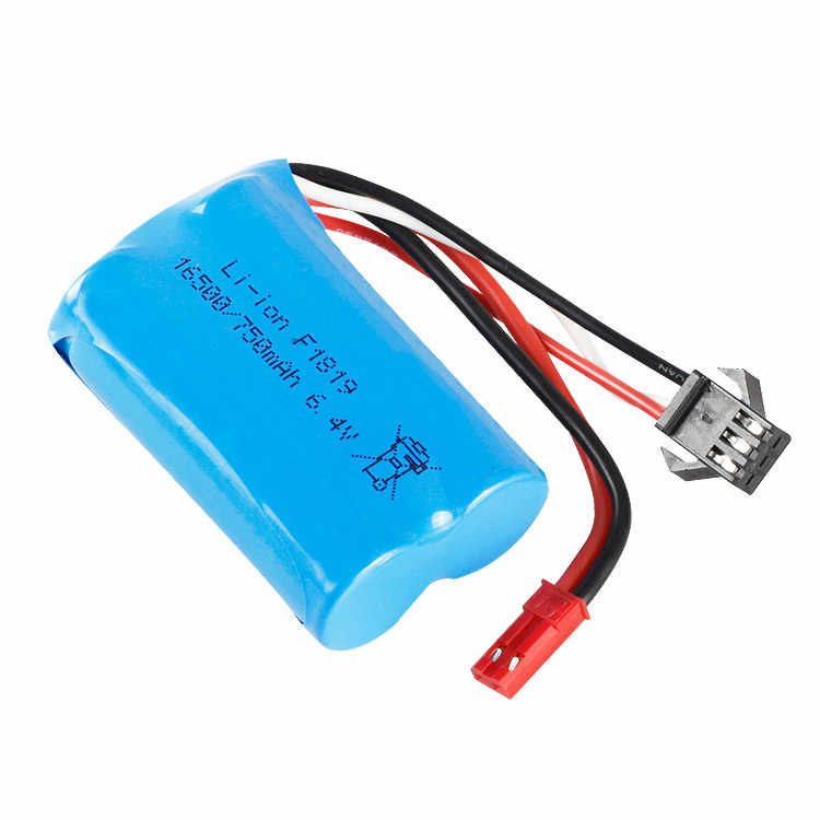1 2 3 Pcs 6.4 V 750 MAh 16500 15C Li-Polymer untuk Wltoys A959-A 969-A 979-A K929-A mainan RC Mobil RC SM-2P JST-2P