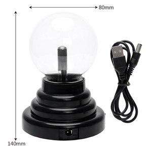 Image 3 - Plasma Ball Atomosphere Night Light โคมไฟลาวาแหล่งจ่ายไฟโดย USB และแบตเตอรี่ AAA เด็กของขวัญ 2019 Magic Lightning Bolt LED หลอด