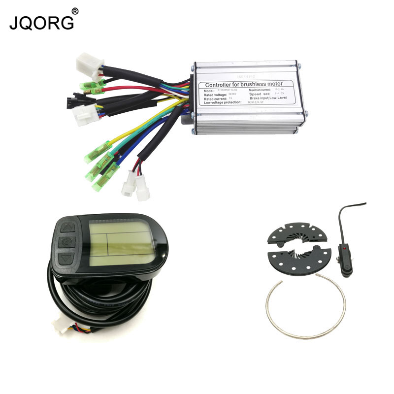 где купить JQORG LCD Display E-bike Controller And LCD Meter And PAS Kits For High Speed Gear Hub Motor Limited In Our Store (FD/FC) дешево