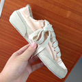 Little wire satin fabric shoes woman style lady silk shoes female single women shoes genuine leather all match female shoes