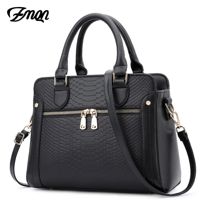 3be4481022 ZMQN Women Bag Handbags Women Famous Brands Crocodile Leather Bags For Women  2018 Luxury Handbags Women Hand Bag Designer Bolsa
