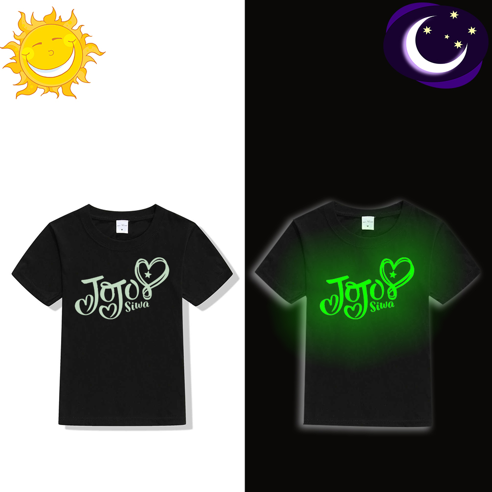 2018 New Fashion Jojo Siwa Luminous T Shirt for Kids Girl Summer Tops Jojo  Siwa Toddler Children Clothes Teens T shirt Casual-in T-Shirts from Mother    Kids ... 35a38b24a1e1