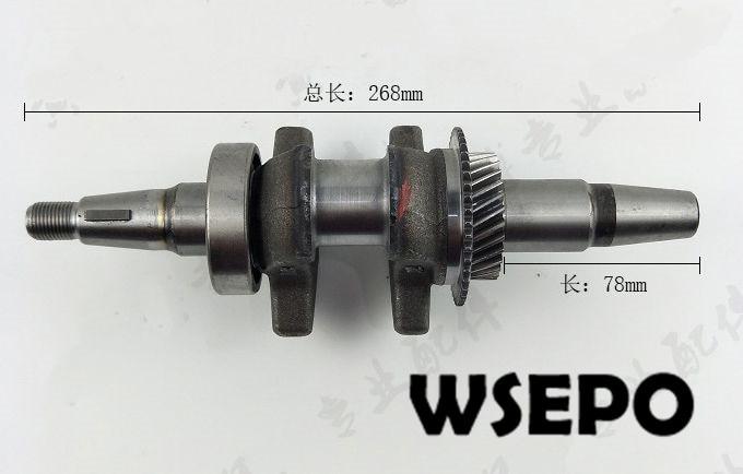 Chongqing Quality! Tapered Crankshaft fits for 173F/GX240/GX270/177F 240cc~270CC Gasoline Engines applied for generators petrol generator parts gx240 gx270 173f 177f crankshaft diameter 25