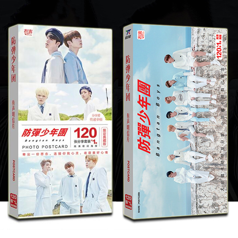Inventive 2018 Card Photo Card Album Poster Kpop Bts Bangtan Jung Kook Label Post 120 Cards 1 Poster Fire Bts K-pop K Pop Bts 1 Sold High Quality Goods Men's Gloves