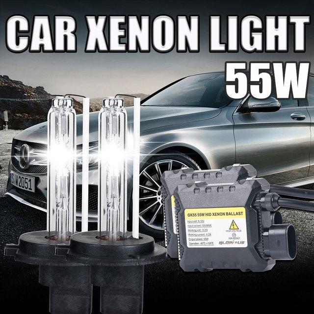 1 Компл. H7 Xenon HID Комплект Тонкий Балласт 55 Вт H7 Один Луч ксеноновая Лампа 6000 К 8000 К 10000 К Холодный Белый Фар Автомобилей hid комплект h7 55 Вт