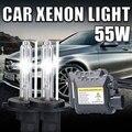 1 Unidades H7 Xenon HID Kit Lastre Delgado 55 W H7 Solo Haz lámpara de Xenón 6000 K 8000 k 10000 k Cool White Linterna Del Coche hid kit h7 55 w