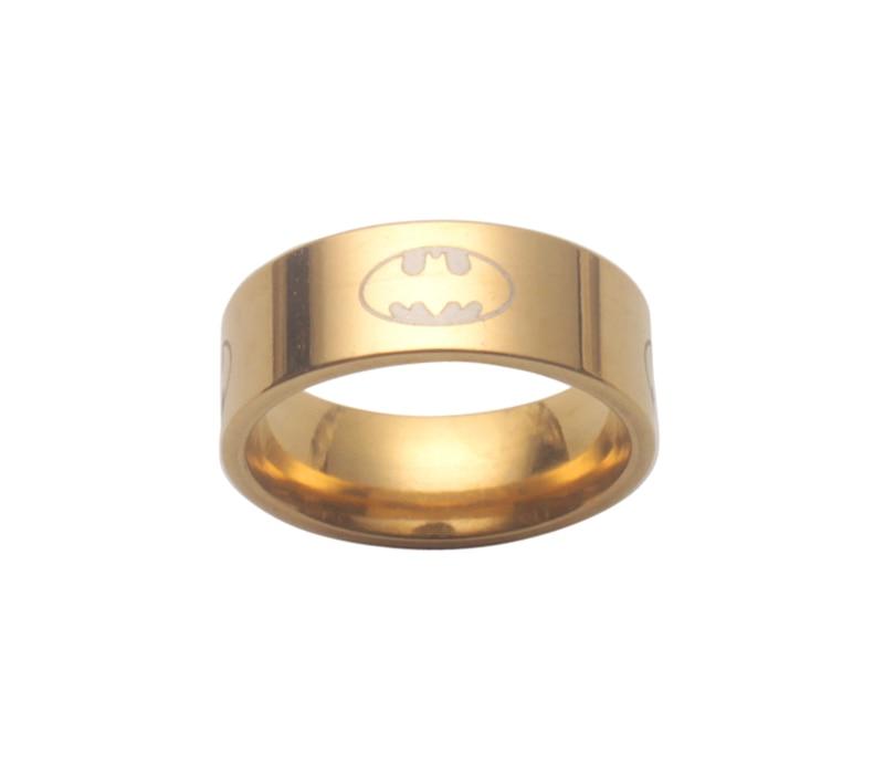 6 шт модный титановый Бэтмен из нержавеющей стали кольцо - Цвет основного камня: Golden