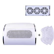 40W 110V/220V Nail Suction Dust Collector Large Size Strong Vacuum Cleaner Machine Low Noisy with 3 bags Salon Tool