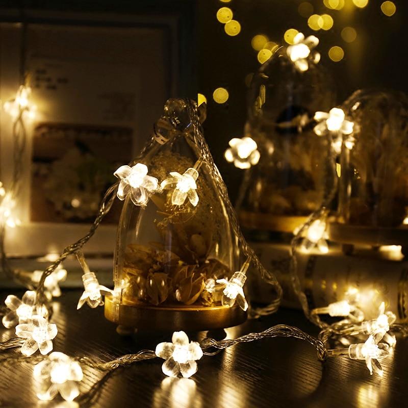 JULELYS 10M 80 bulbs Bateria e qershisë me qershi Mundësuar Dritat - Ndriçimi i pushimeve - Foto 6