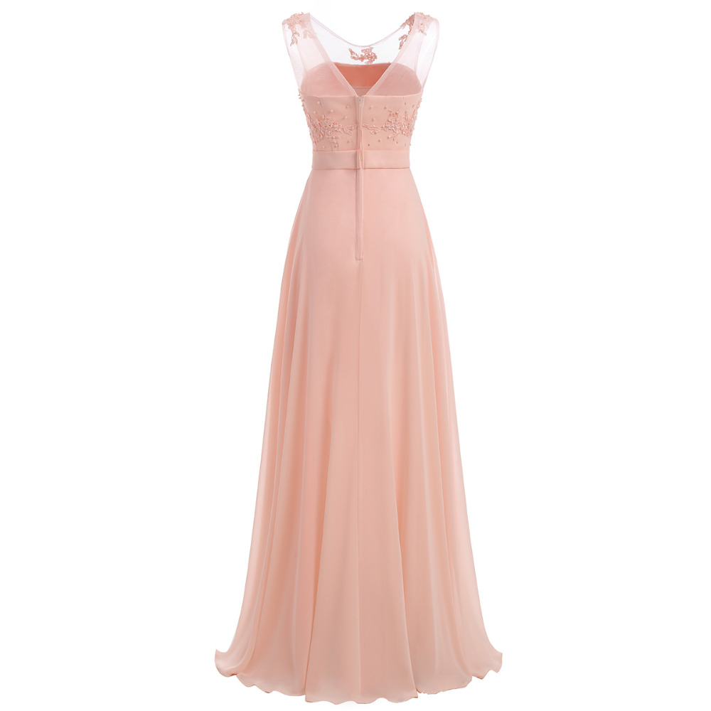 Floor-Length Chiffon Long Bridesmaid Dress Gown 2017 New Fashion Formal Bridesmaid Dresses 3