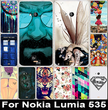 Soft TPU Phone Cases For Microsoft Nokia Lumia 535 N535 5 inch Hard Plastic Back Cover