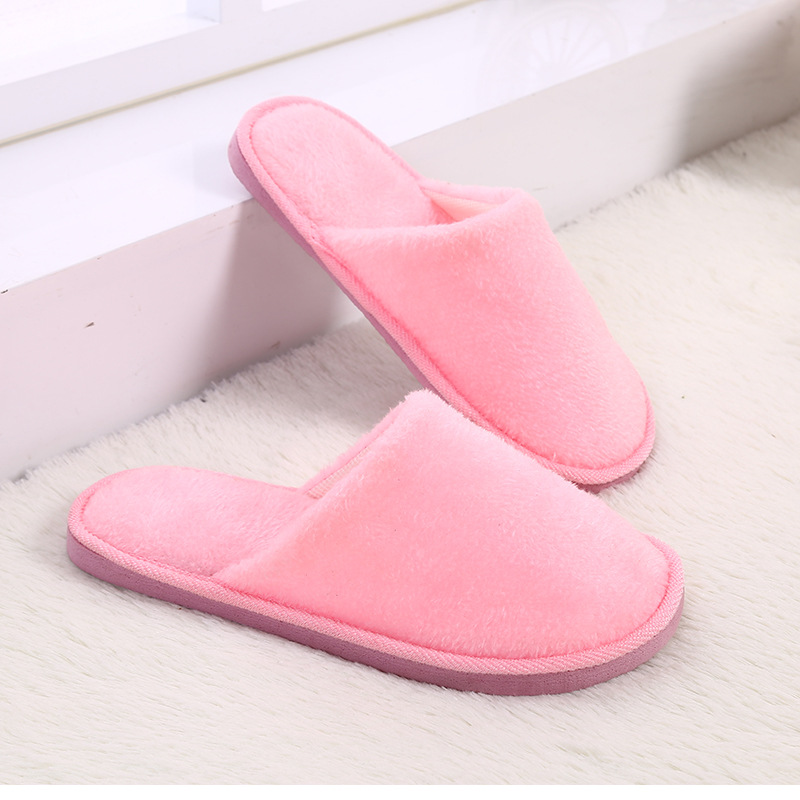 Free shipping Women's shoes Home slippers Couple New plush indoor home winter wooden floor non-slip warm mute EVA cotton drag fashion autumn and winter indoor home lovers cotton drag floor plush slippers female slip resistant