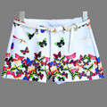 16 new European Exquisite A-line Short Colorful Butterfly Print Europe France Russia Style High Waisted Shorts Female Streewear