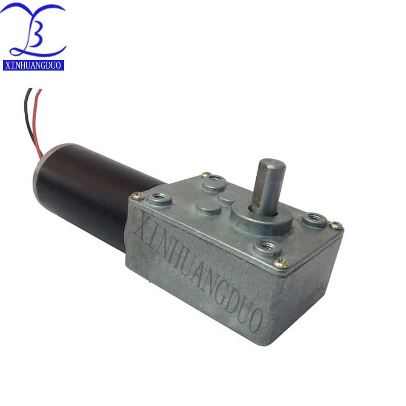 31ZY Worm Gear Motor 24v volt Dc Micro Reversed Motor High Torque Robot Electric Motor D Shaft RC car boat model robot vehicle